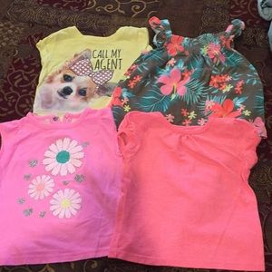 Other - 4 girls shirts (sizes listed in pictures)